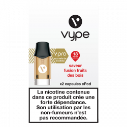 Pods vPro ePod Fusion Fruits des Bois 18mg 1,9mL [Vype]