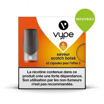 Pods Vype EPen 3 Scotch Boisé 2mL x1
