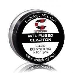 Prebuilt Coils MTL Fused Clapton Ni80 x10