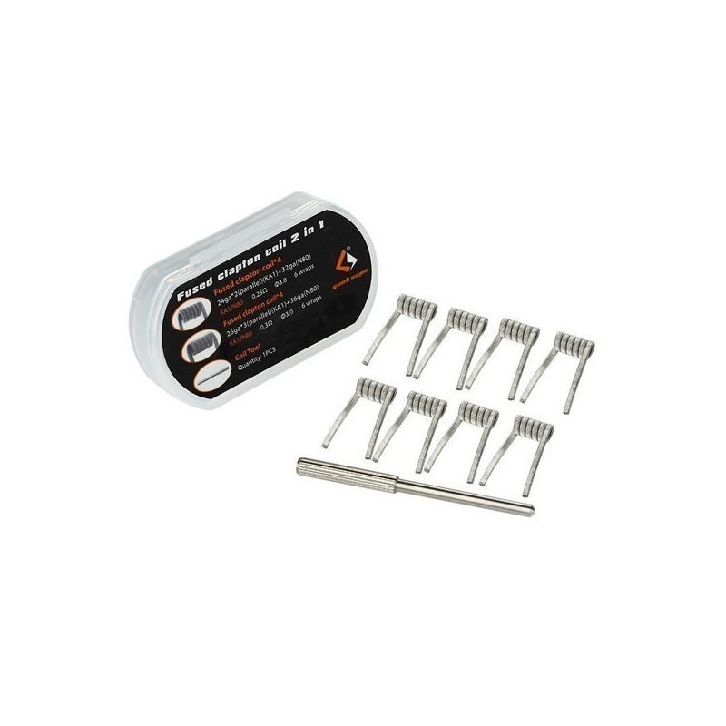 Pack 8 coils Fused  Clapton N80[Geek Vape]